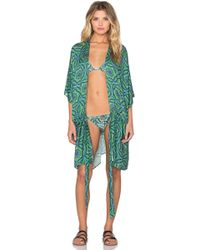 My Own Summer Toc Toc Kimono - Green