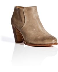 NDC Suede Leather Debbie Softy Ankle Boot - Lyst