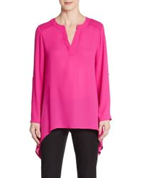 Chaus New York - Roll-tab Blouse - Lyst
