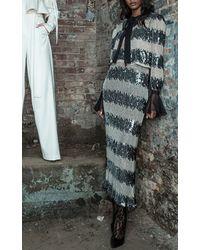 Houghton Bolan Silk Chiffon Long Sleeve Jacket - White