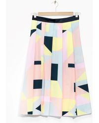 & Other Stories Rachel Antonoff A-Line Skirt - Yellow