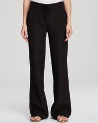 Moon & Meadow - Drawstring Linen Trousers - Lyst