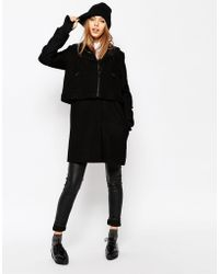 ELEVEN PARIS - Wool Coat With Removable Gilet - Lyst