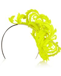 Philip Treacy - Neon Guipure Lace Headpiece - Lyst
