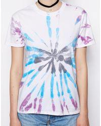 Asos Reclaimed Vintage Tie Dye Target Tshirt - Lyst