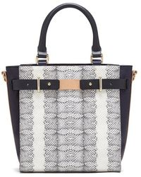 Vince Camuto 'Large Lance' Python Embossed Leather Satchel - Lyst