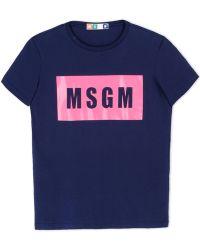 MSGM Short Sleeve T-Shirt blue - Lyst