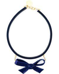 Andres Gallardo - 'True Blue- Blue Bow' Necklace - Lyst