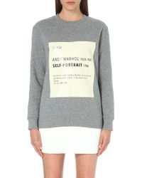 Self-Portrait Signature Sweatshirt - Grey