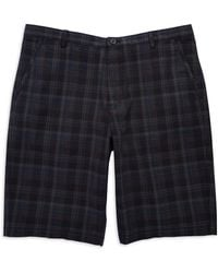 Calvin Klein Black Plaid Shorts - Lyst