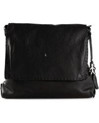Henry Beguelin Oversized Leather Satchel - Black