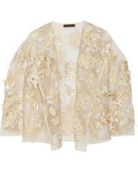 Biyan - Kiku Embellished Brocade And Silk-organza Jacket - Lyst