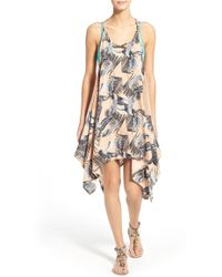Rip Curl - 'palm Island' Print Cover-up - Lyst