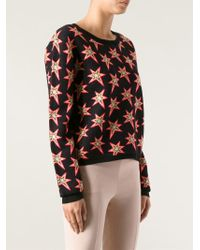 Emma Cook Jaquard Star Sweater - Black