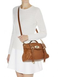 Mulberry Alexa Polished Buffalo Satchel - Lyst