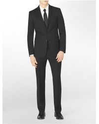 Calvin Klein Body Slim Fit Black Stripe Cotton Suit Jacket - Lyst