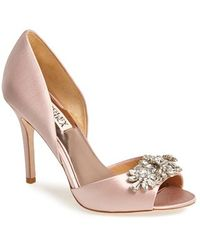 Badgley Mischka Women'S 'Giana' Satin D'Orsay Pump - Lyst