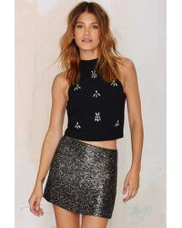 JOA | Sheera Embellished Crop Top | Lyst