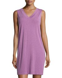 Hanro Champagne Tank Gown - Lyst