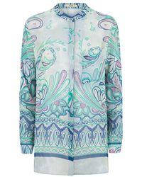Etro Paisley Print Silk Blouse - Lyst