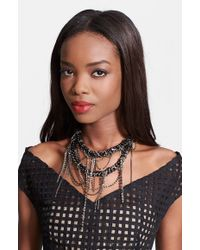 Lela Rose - Crystal Chain Necklace - Lyst