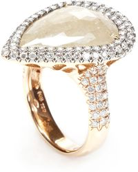 Nina Runsdorf | One Of A Kind Yellow Rough Pear Shape Diamond Ring | Lyst