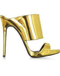Giuseppe Zanotti Gold Metallic Leather Sandal - Lyst