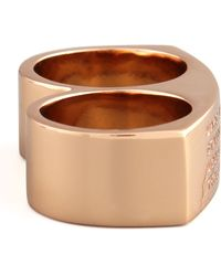 Marc By Marc Jacobs Standard Supply Double Ring - Metallic