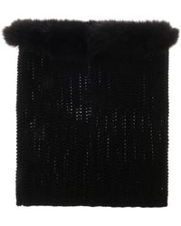 Moncler - Wool and Fur Snood - Lyst