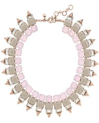J.Crew Crystal Spike Necklace - Lyst