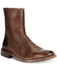 Frye James Inside Inside Zip Boots - Lyst