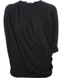 Givenchy Draped Asymmetric Top - Lyst