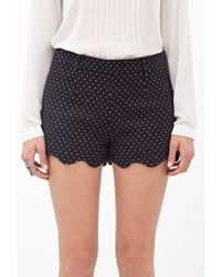 Forever 21 Polka Dot Scalloped Shorts - Lyst