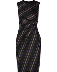 Adam Lippes Striped Wool-Blend Dress - Lyst
