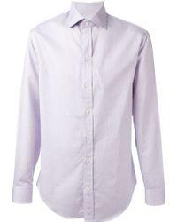 Armani Checked Shirt - Lyst