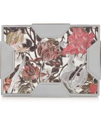 Lee Savage - Space Large Floral-Print Leather Box Clutch - Lyst