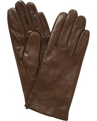 John Lewis - Fleece Lined Leather Gloves - Lyst