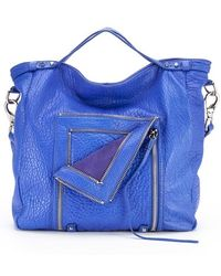 She + Lo 'let It Ride' Convertible Leather Tote - Blue