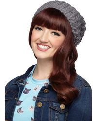 Ana Accessories Inc Beignet Or Nay Hat in Grey - Lyst