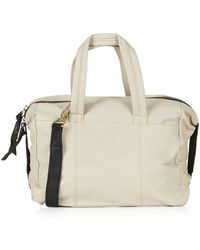 TOPSHOP - Leather Holdall Bag - Lyst