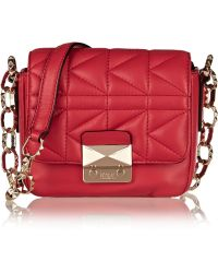 Karl Lagerfeld Kuilted Mini Leather Shoulder Bag - Lyst