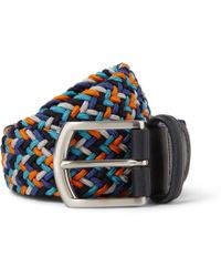Andersons 35cm Leather-trimmed Elasticated Woven Belt - Lyst