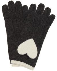 Boutique Moschino - Heart Knitted Glove - Lyst