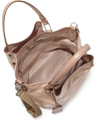 Tod's Flower Small Coated Canvas Tote beige - Lyst