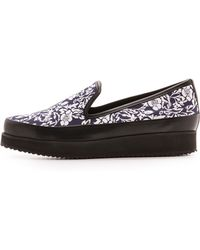 Mother Of Pearl Kennedy Floral Slip On Sneaker  Navy Floral - Lyst