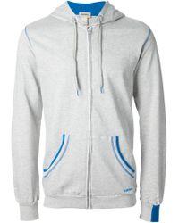 Diesel Gray Hooded Jacket - Lyst