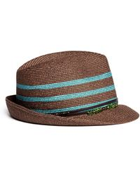 My Bob 'Aix Luxe' Beaded Leather Band Panama Hat - Lyst