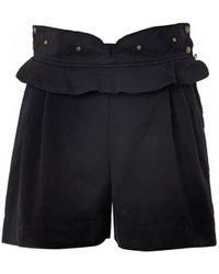 See By Chloé Ruffled Denim Shorts - Lyst