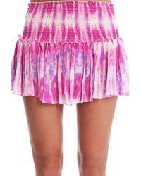 Loveshackfancy Jellyfish Crepe Mini Skirt - Lyst