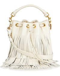 Saint Laurent - Emmanuelle Small Fringed Leather Cross-Body Bag - Lyst